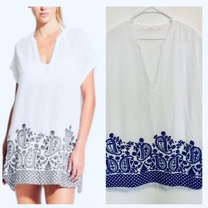 Athleta coverup  embroidery luxe tunic kaftan